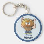 Stud Muffin Humor Keychain