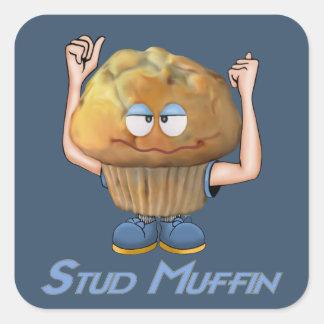 Stud Muffin Humor Square Sticker