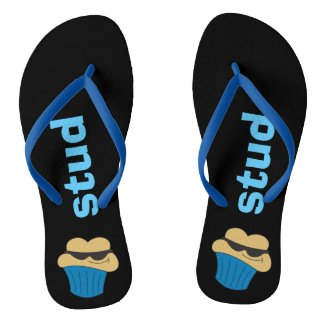 Stud Muffin Humorous Men's Flip Flops
