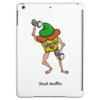 Stud Muffin Posing With Dumbbells iPad Air Covers