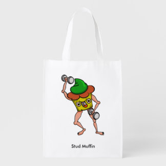 Stud Muffin Posing With Dumbbells Market Tote