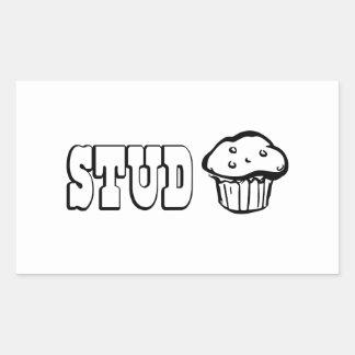 Stud Muffin Rectangular Sticker