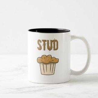 stud muffin Two-Tone coffee mug