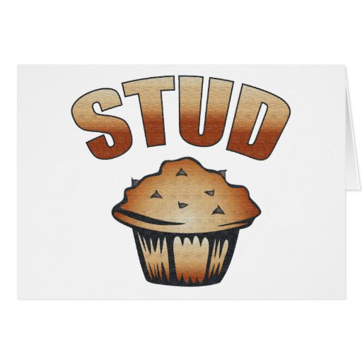 Stud Muffin Wash Design Greeting Card