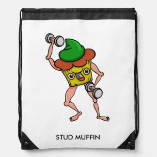 Stud Muffin Weight Lifting Drawstring Bag