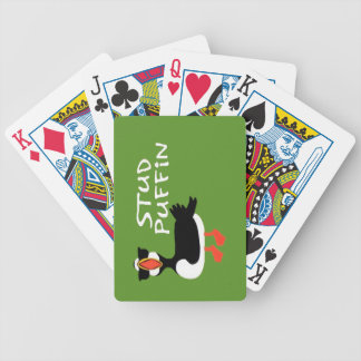 Stud Puffin Playing Cards - Green