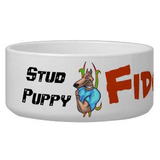 Stud Puppy Customized Dog Bowls