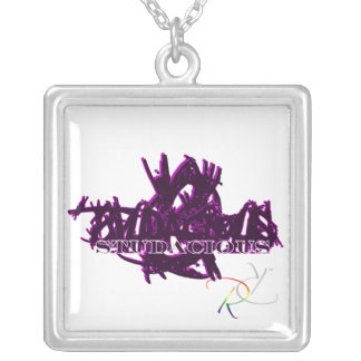 Studacious Maniac in Purple Silver Plated Necklace