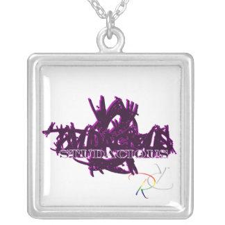 Studacious Maniac in Purple Square Pendant Necklace