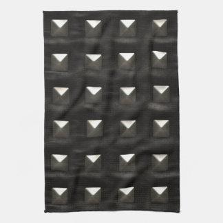 Studded Black Leather Kitchen Towel