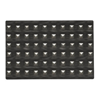 Studded Black Leather Placemat