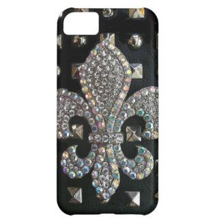 Studded fleur de lis print case iPhone 5C case