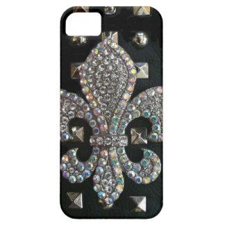 Studded fleur de lis print case iPhone 5 case