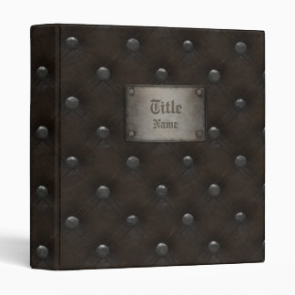 Studded Leather Armor With Plaque 3 Ring Binder