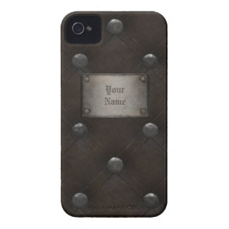 Studded Leather Armor With Plaque Case-Mate iPhone 4 Case