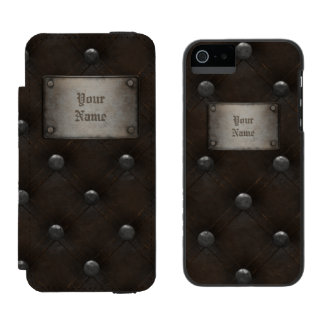 Studded Leather Armor With Plaque Incipio Watson™ iPhone 5 Wallet Case