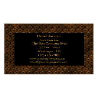 Studded Leather Business Card Templates