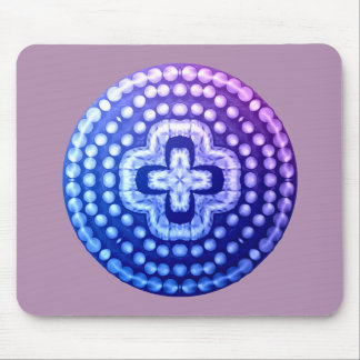 studded shield cross mouse pad
