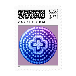studded shield cross postage
