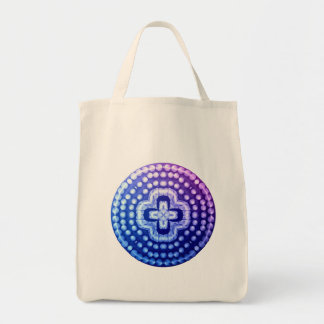 studded shield cross tote bag