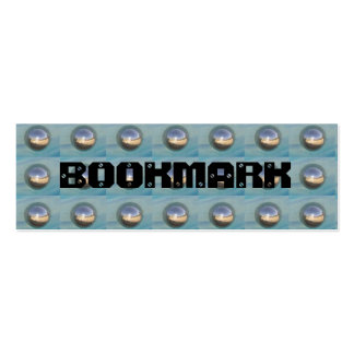 Studded Silver Spheres BOOKMARK Mini Business Card