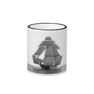 Studding Sails Set Ringer Coffee Mug