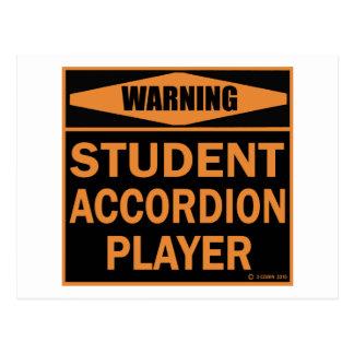 Student Accordion Player Postcard