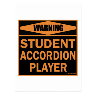 Student Accordion Player Post Cards