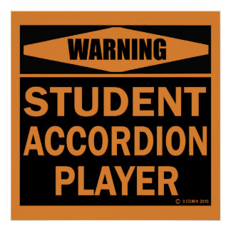 Student Accordion Player Poster