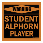 Student Alphorn Player Posters