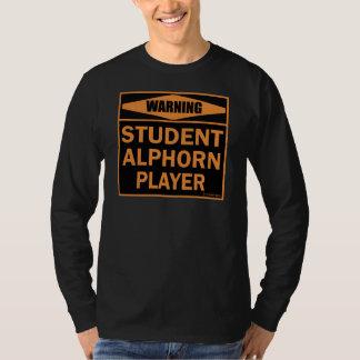 Student Alphorn Player Tee Shirt