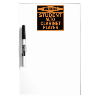 Student Alto Clarinet Player! Dry Erase Boards