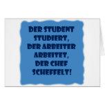Student, Arbeiter und Chef Karten