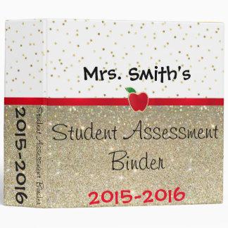 Student Assessment Binder- Customize it! Vinyl Binder