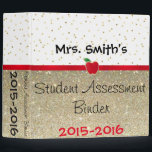 """Student Assessment Binder- Customize it! Binder<br><div class=""""desc"""">Perfect way to label a very important binder for a teacher! Keep students&#39; most important work in here. It&#39;s fun enough to make you want to pull it off the shelf to update it,  and clean enough design to feel comfortable taking it to meetings.</div>"""