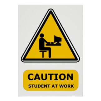 Student at work poster