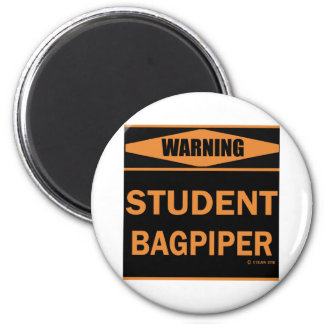 Student Bagpiper 2 Inch Round Magnet