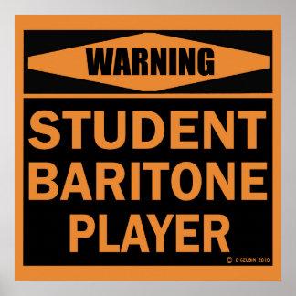Student Baritone Player Poster