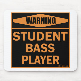 Student Bass Player Mouse Pads