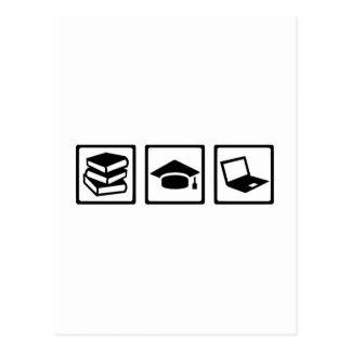 Student books graduation computer postcard