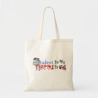 Student by Day, Vampire by night Canvas Bags