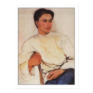 Student by Zinaida Serebriakova Postcard