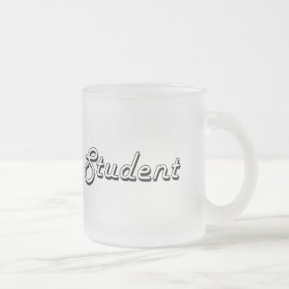 Student Classic Job Design 10 Oz Frosted Glass Coffee Mug