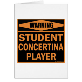 Student Concertina Player Greeting Cards