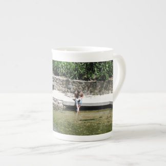 Student Cools Feet in San Luis Obispo Creek Tea Cup