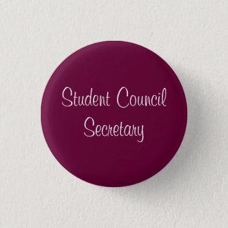 Student Council Secretary Pinback Button