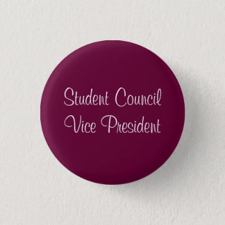 Student Council VP Pinback Button