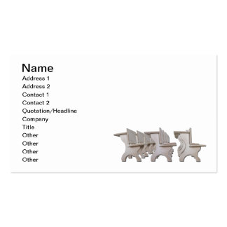 Student Desk Rows Business Card