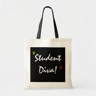 Student Diva In Black And White Tote Bag