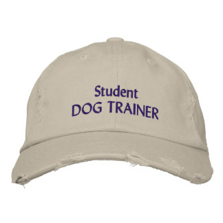 Student Dog Trainer hat Embroidered Baseball Cap